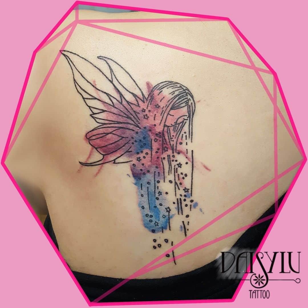 Daisy Sotomayor Watercolor Tattoo Style Fairy Body Art Soul Tattoos Tattoo Piercing Apprenticeships
