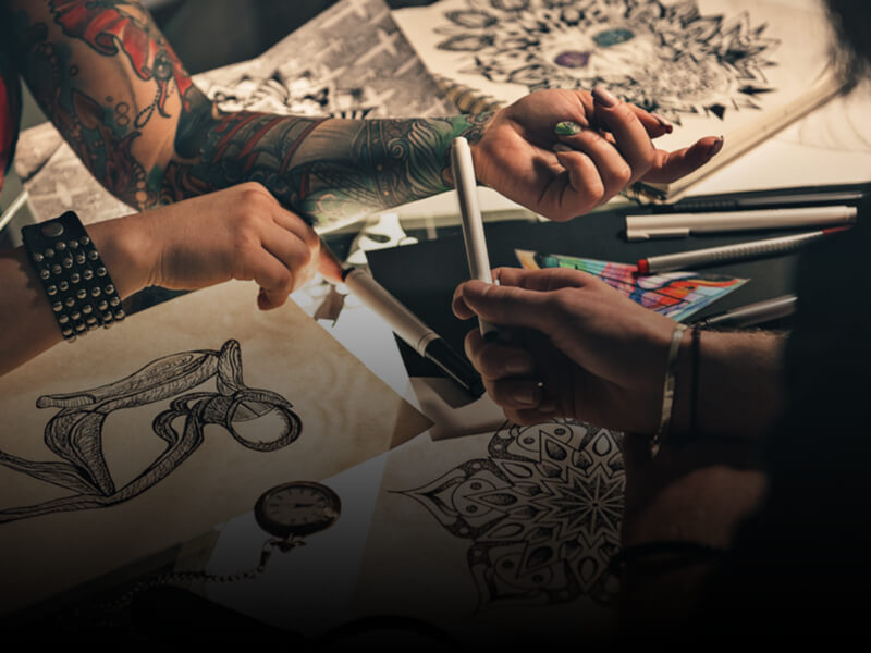 Creating tattoo flash for a tattoo apprenticeship