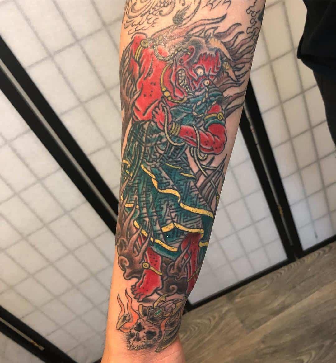 Japanese Oni By Dotyart Body Art Soul Tattoos Tattoo Piercing Apprenticeships