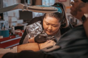 Start A Tattoo Apprenticeship: Tattoo Apprentice Creating First Tattoo